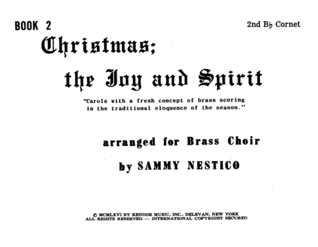 Christmas; The Joy & Spirit - Book 2/2nd Cornet