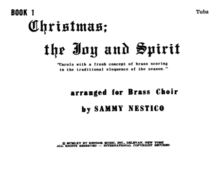 Christmas; The Joy & Spirit- Book 1/Tuba