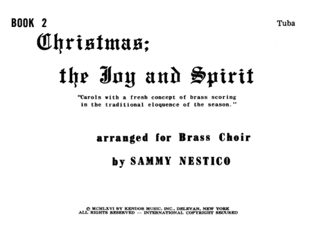 Christmas; The Joy & Spirit- Book 2/Tuba