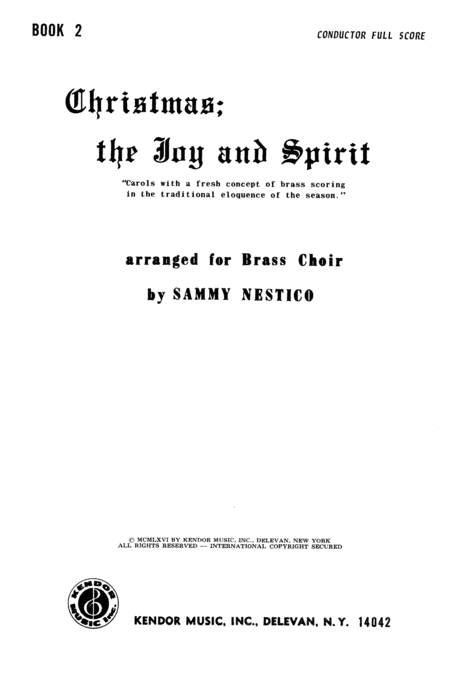 Christmas; The Joy & Spirit- Book 2/Full Score