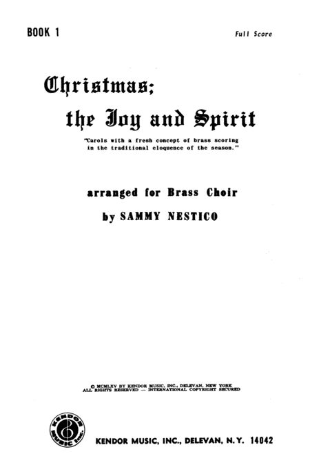 Christmas; The Joy & Spirit-Book 1/Full Score
