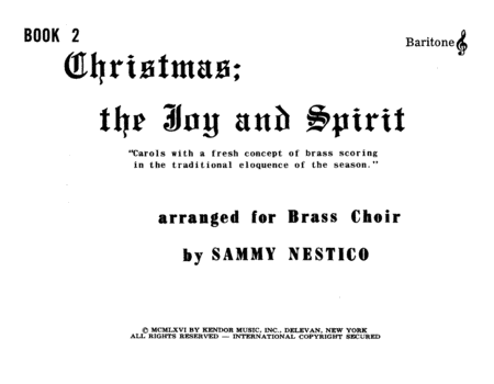 Christmas; The Joy & Spirit - Book 2/Baritone TC