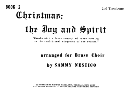Christmas; The Joy & Spirit - Book 2/2nd Trombone