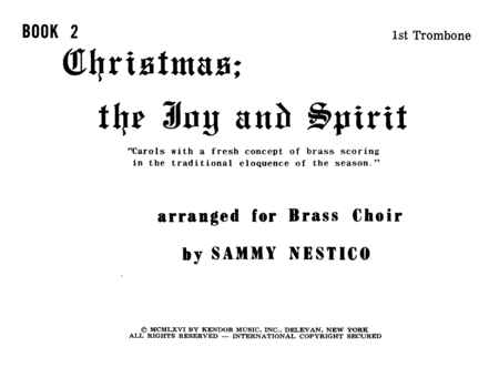 Christmas; The Joy & Spirit - Book 2/1st Trombone