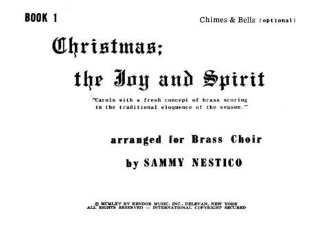 Christmas; The Joy & Spirit- Book 1/Chimes & Bells (opt.)