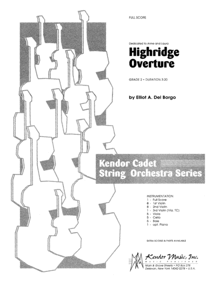 Highridge Overture - Full Score