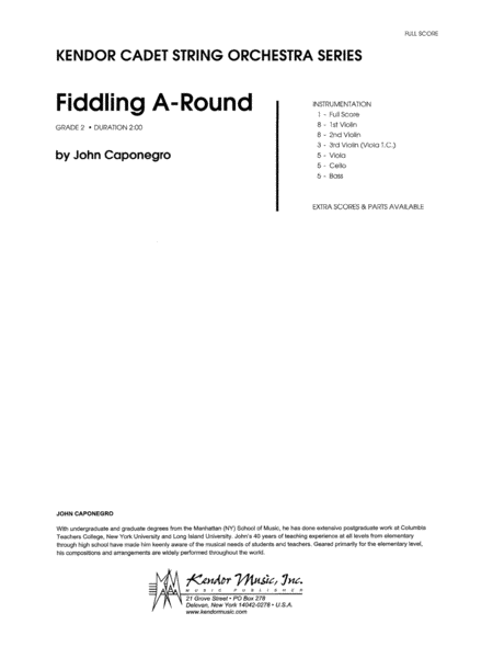 Fiddling A-Round - Full Score