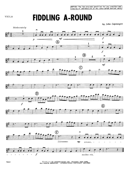 Fiddling A-Round - Viola