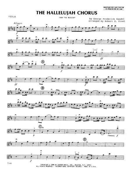 Hallelujah Chorus, The - Viola
