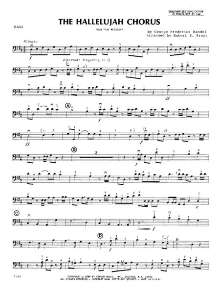 Hallelujah Chorus, The - Bass