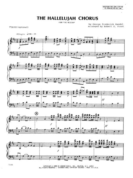 Hallelujah Chorus, The - Piano (optional)