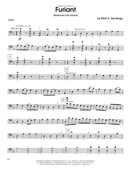 Furiant (Bohemian Folk Dance) - Cello