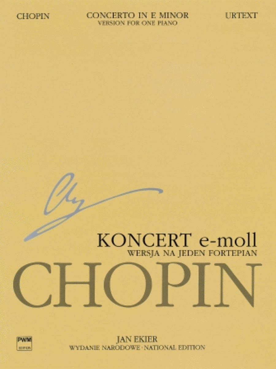 Concerto No. 1 in E Minor Op. 11 - Version for One Piano