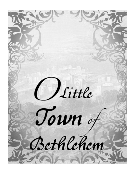 O Little Town of Bethlehem, Piano Solo