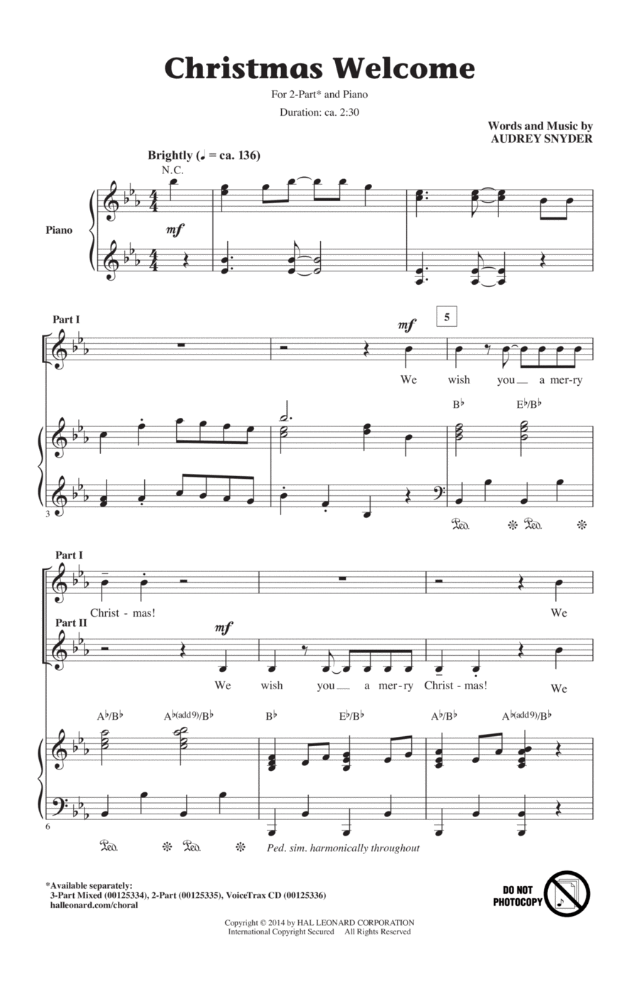 Christmas welcome sheet music by audrey snyder sheet music plus