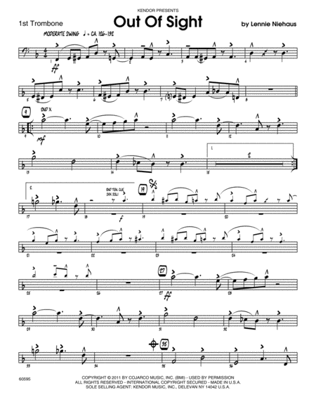Out Of Sight - Trombone 1