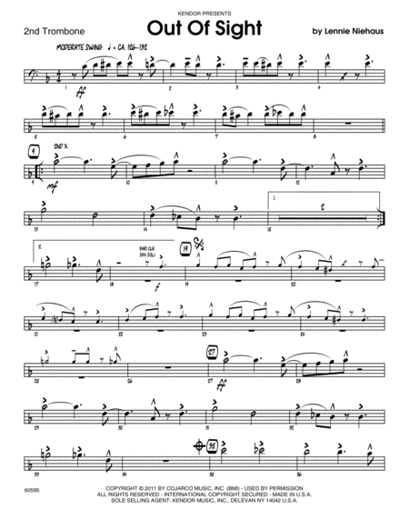 Out Of Sight - Trombone 2