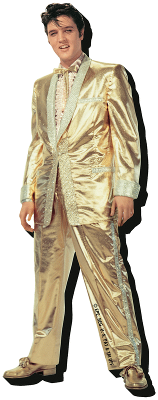 Elvis Gold - Chunky Magnet