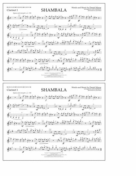 Shambala - Clarinet 1