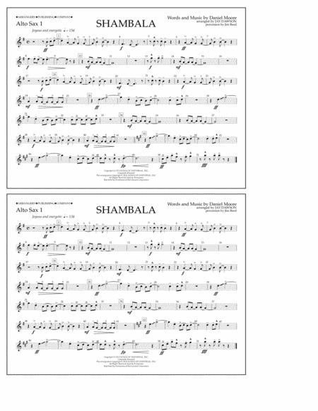 Shambala - Alto Sax 1