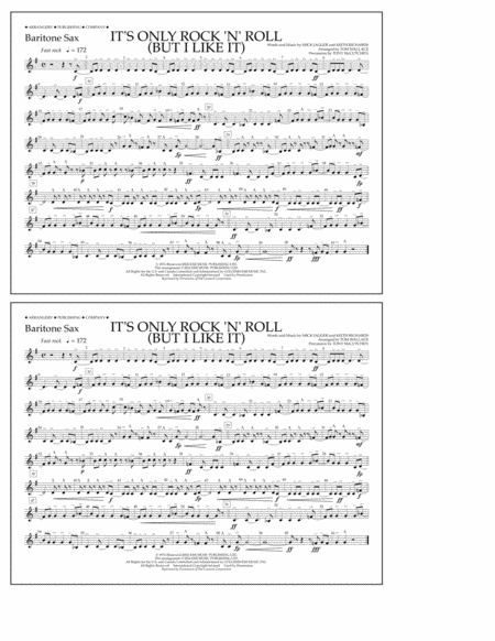 It's Only Rock 'n' Roll (But I Like It) - Baritone Sax