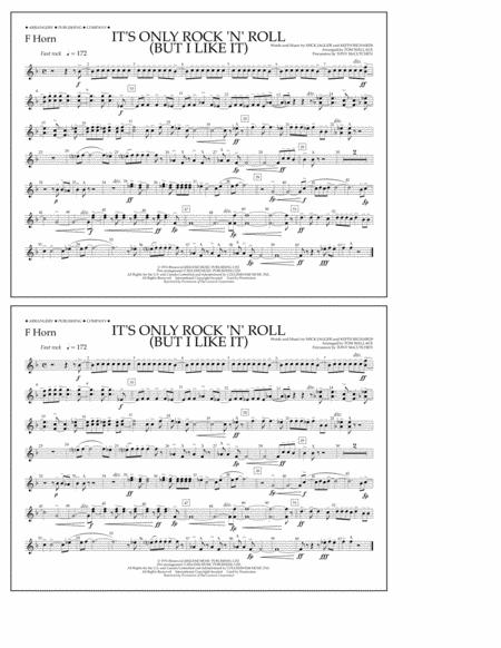 It's Only Rock 'n' Roll (But I Like It) - F Horn
