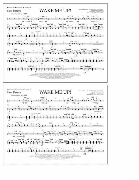 Wake Me Up! - Bass Drums
