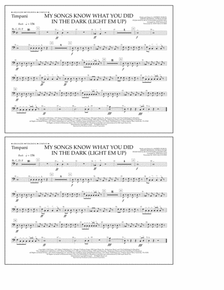 My Songs Know What You Did in the Dark (Light 'Em Up) - Timpani