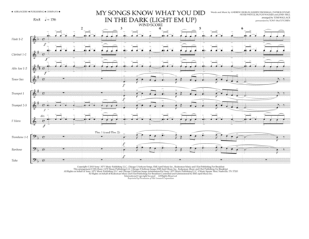 My Songs Know What You Did in the Dark (Light 'Em Up) - Wind Score