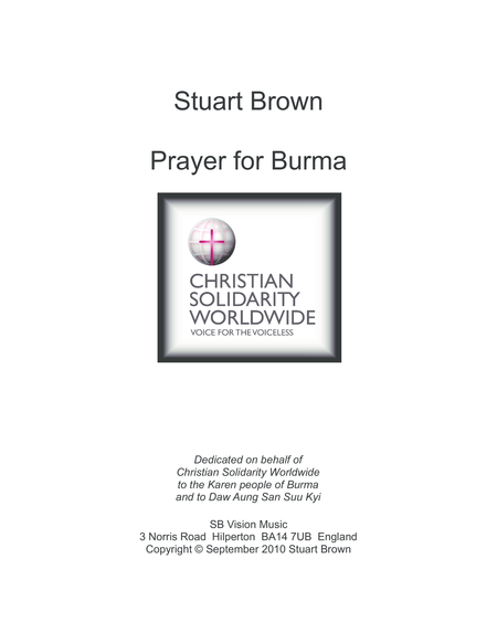 Prayer for Burma (score)