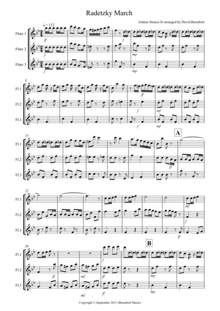 Radetzky March for Flute Trio