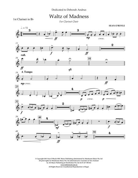 Waltz Of Madness - Bb Clarinet 1