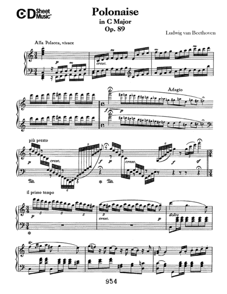 Polonaise In C Major, Op. 89