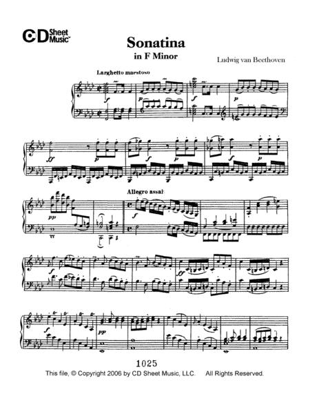 Sonatina in  F Minor