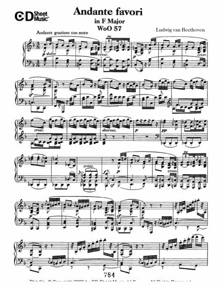 Andante Favori in F Major, WoO 57