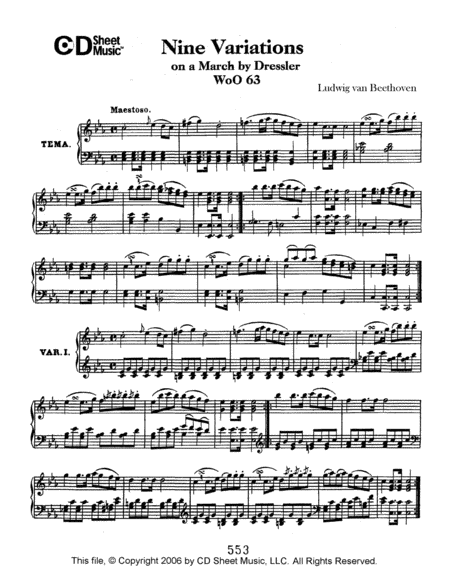 Variations (9) On A March By Dressler, Woo 63