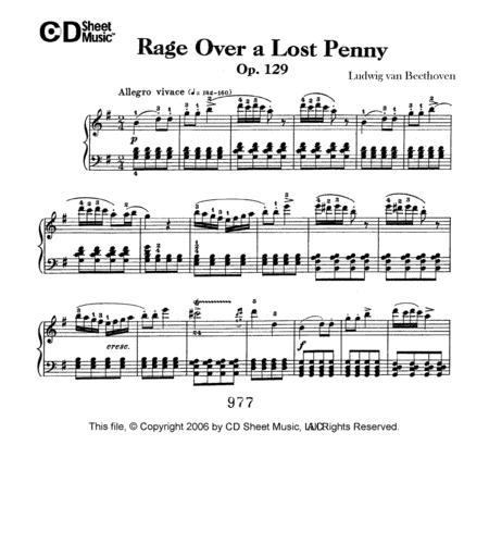 Rage Over A Lost Penny (rondo A Capriccio In G), Op. 129