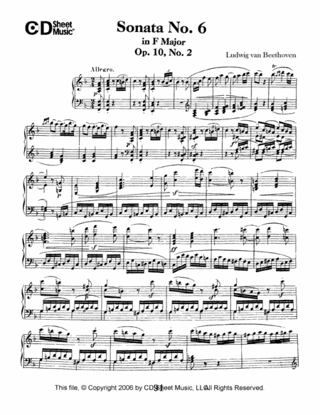 Sonata No. 6 In F Major, Op. 10, No. 2