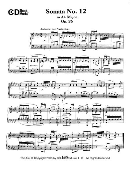 Sonata No. 12 In A-flat Major, Op. 26