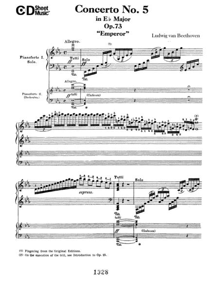 Concerto No. 5 In E-flat Major (emperor), Op. 73