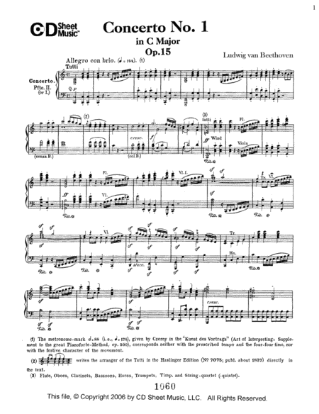 Concerto No. 1  in C Major, Op. 15