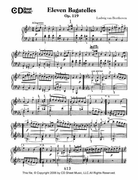 Bagatelles (11), Op. 119
