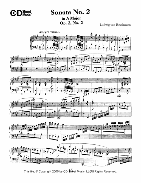 Sonata No. 2 In A Major, Op. 2, No. 2