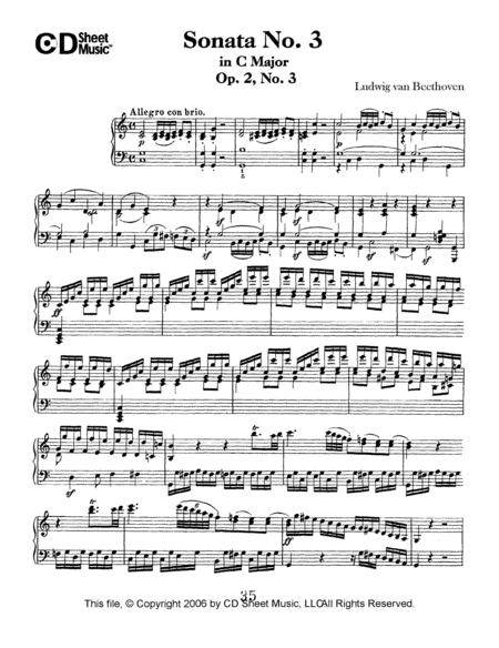 Sonata No. 3 In C Major, Op. 2, No. 3