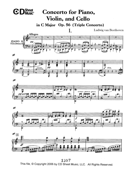 Concerto For Piano, Violin, And Cello (triple Concerto), Op. 56