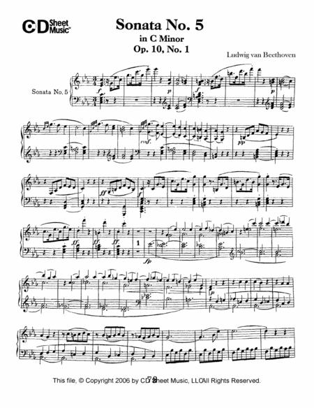 Sonata No. 5 In C Minor, Op. 10, No. 1