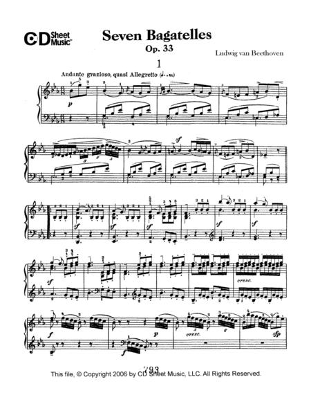 Bagatelles (7), Op. 33