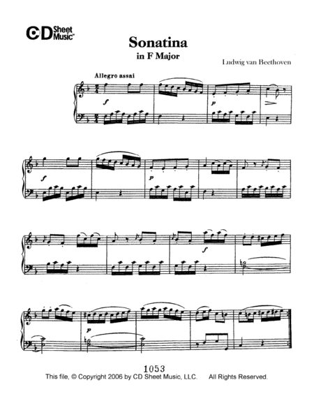 Sonatina In F Major