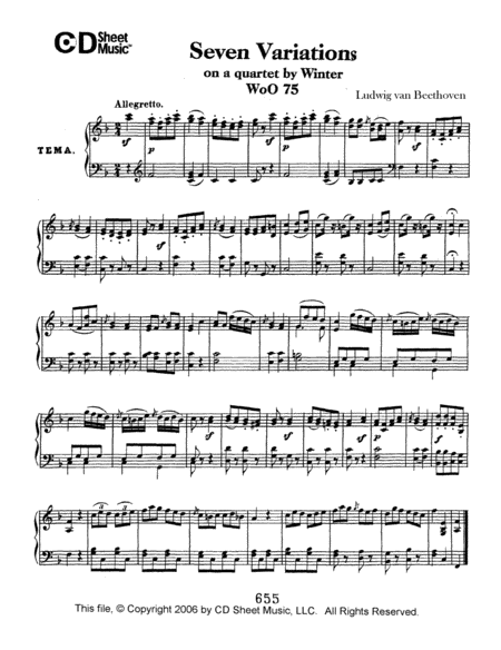 Variations (7) On A Quartet By Winter, Woo 75