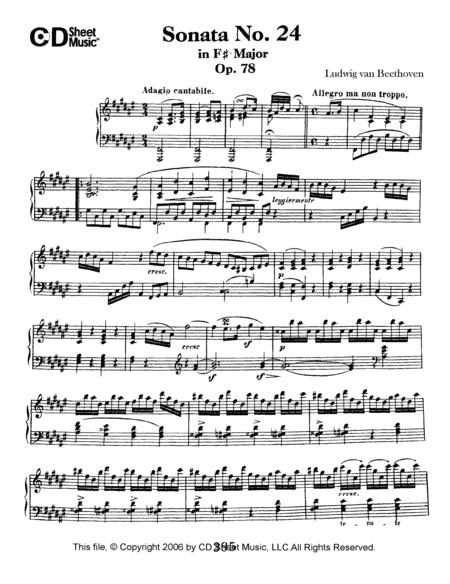 Sonata No. 24 In F-sharp Major, Op. 78